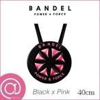 バンデル メタリック ネックレス 40cm ブラックピンク