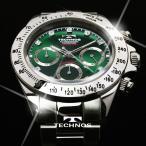テクノス 腕時計 メンズ TECHNOS 限定モデル クロノグラフ ジルコニア リミテッド スーツにカジュアルに T4102SG