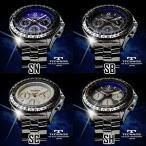 テクノス 腕時計 メンズ TECHNOS 限定モデル  選べる4タイプ スイスの名門 パイロット・クロノグラフ メンズ T4162