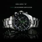 テクノス 腕時計 メンズ TECHNOS 限定モデル クロノグラフ DIAMOND LIMITED GREEN ORANGE T4286SG