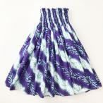 パウスカート 72cm 77cm ダイアゴナル タパ柄 プルメリアレイ 〈ターコイズ ブルー パープル〉 送料無料 ハワイアン フラダンス衣装 スパイラル 水色