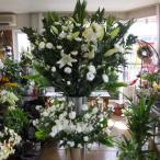通夜・告別式葬儀スタンド花白上がり2段