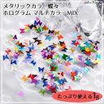 Yahoo!あとりえほのかメタリックカラー 蝶々のホログラム マルチカラーミックス お得な袋入り 1g