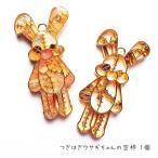 つぎはぎウサギちゃんの空枠 1個 ゴールド レジンパーツ アクセサリーパーツ メタルパーツ 兎 うさぎ ラビット rabbit