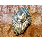 コンチョ ボタン シルバー sv950 ネイティブ インディアン 希少 デザイン レザーアイテム 髪留め ネジ ボタン 丸カン ループ 経年変化 035