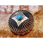 コンチョ ボタン シルバー sv950 ターコイズ トルコ石 ネイティブ デザイン レザーアイテム 髪留め ネジ ドットボタン 丸カン ループ 057