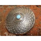 コンチョ ボタン シルバー sv950 ターコイズ トルコ石 ネイティブデザイン レザーアイテム sv925 髪留め ネジ ドットボタン 丸カン ループ 071