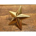 ショッピングレザー 25mm ゴールド 星型 デザイン スタッズ 打ち込み カシメ コンチョ 革 レザー クラフト 2.5cm 金色