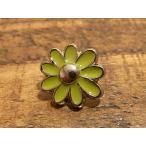 ショッピングレザー 花 フラワー デザイン 緑 スタッズ 打ち込み カシメ コンチョ 革 レザー クラフト 銀色 シルバー
