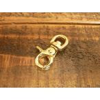 豆 レバー ナスカン S ゴールド 金 8mm レザー ベルト 革 0.8cm フック カスタム キーホルダー ウォレットロープ レザークラフトに