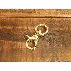 豆 レバー ナスカン S ゴールド 金 10mm レザー ベルト 革 1cm フック カスタム キーホルダー ウォレットロープ レザークラフトに