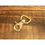 豆 レバー ナスカン S ゴールド 金 15mm レザー ベルト 革 1.5cm フック カスタム キーホルダー ウォレットロープ レザークラフトに