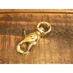 レバー ナスカン M ゴールド 金 9mm レザー ベルト 革 0.9cm フック カスタム キーホルダー ウォレットロープ レザークラフトに