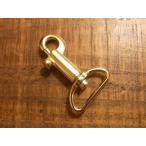 鉄砲 テッポウ ナスカン ゴールド 24mm レザー ベルト 革 2.4cm 金色 フック カスタム キーホルダー レザークラフトに