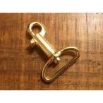 鉄砲 テッポウ ナスカン ゴールド 30mm レザー ベルト 革 3cm 金色 フック カスタム キーホルダー レザークラフトに