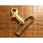 鉄砲 テッポウ ナスカン ゴールド 40mm レザー ベルト 革 4cm 金色 フック カスタム キーホルダー レザークラフトに