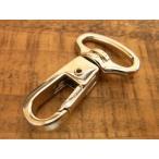 ナスカン 18mm ニッケル 銀 レザー 金具 1.8cm ワンタッチ フック バッグ ハンドル パーツ ベルト 革 カスタム レザークラフトに