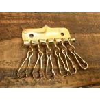 6連 キー金具 ゴールド 金 キーケース レザー キーホルダー 鍵 金具 パーツ ベルト 革 リング カスタム レザークラフトに