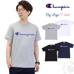 チャンピオン Champion クルーネック ビッグロゴ 半袖Tシャツ ベーシック カットソー メンズ バインダーネック おしゃれ