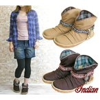 インディアン INDIAN 2WAYショートブーツ コンチョ レディース 靴 シューズ
