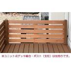 天然木製 ユニット式デッキ縁台専用 120cmフェンス