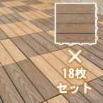 人工木 フロアパネル ウッディスケープ (18枚セット) ジョイントタイル 床タイル