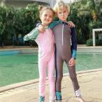 キッズ 子供 水着 ラッシュガード素材 キッズ 女の子男の子 帽子/キャップ付き UPF 50+ 日焼け防止 紫外線対策 速乾擦り傷防止保温性