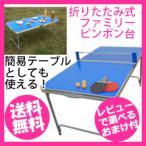 卓球台セット [折りたたみ式ファミリーピンポン台 0729]/同梱不可・代引き不可/1月下旬入荷予定