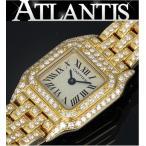 Cartier 銀座 カルティエ Cartier ミニパンテール ダイヤ K18YG 腕時計