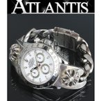ROLEX 銀座 クロムハーツ ロレックス デイトナ CHプラス 純正ダイヤ ウォッチブレス 116520 白文字盤 腕時計