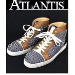 Christian louboutin 銀座 クリスチャン・ルブタン ハイカット スニーカー デニム スタッズ メンズ 靴 size43