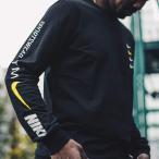 ナイキ NIKE M NSW  OB/MB L/S Tシャツ  (BLACK/WHITE) 18HO-S