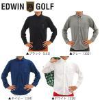 「クリアランス」 エドウィン ゴルフ KG9952 ボタンダウン 長袖ポロシャツ 在庫限り