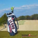 アトミックゴルフ別注カラー ルコック ゴルフ QQBNJJ05RM カート キャディバッグ ホワイト ネイビー