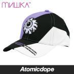 ミシカ MISHKA 3TONE ローキャップ 紫 黒 白 LOW CAP Purple Black White フリーサイズ