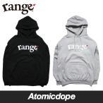 ショッピングRANGE range champion basic logo pull over hoody プルオーバー パーカー 黒 灰 Black Grey レンジ