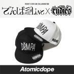 でんぱ組.inc x ルーディーズ RUDIE'S DRAWING DEMPA スナップバックキャップ 帽子 黒 白 SNAPBACKCAP Black White フリーサイズ