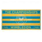 「テニスタオル|ウィンブルドン 2021 レディース公式タオル|ペオークル×ターコイズ 41162214」の画像