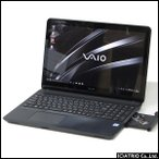 中古パソコン ノートパソコン VAIO S15 VJS151C11N フルHD Core i7 6700HQ 2.6GHz 16GB SSD 128GB HDD 1TB Windows10 Office タッチパネル 送料無料