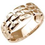 メンズリング 人気 リングダイヤモンド リング ピンクゴールドK18 ダイヤモンド 指輪 K18PG 結婚指輪 18金ピンキーリング ダイヤ ストレート 送料無料