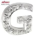 メンズ ダイヤモンド プラチナピンブローチ ラペルピン イニシャルブローチ G ダイヤ 0.20ct 人気ブローチ 男性用 タックピン