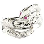 蛇 スネークリング ルビー ハワイアンジュエリー 指輪
