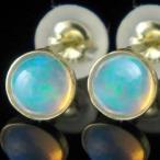 オパール ピアス イエローゴールドk18 10月誕生石 18金 天然石 レディース 宝石 18k 送料無料