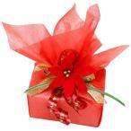 プレゼント用 有料ギフトラッピング リング用 ブレスレット用 ピアス用 ポインセチア 花 リボン シンプル 人気