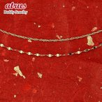 純金 ネックレス 2連ネックレス 24金 ゴールド K24 スクリューネックレス ペダルチェーン 24K チェーンネックレス 40cm 43cm 地金 レディース あすつく