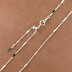 ネックレス メンズ アジャスター付 ネックレスチェーン 45cm チェーンのみ 普段使い アズキ ホワイトゴールドk10 1ミリ幅 パーツ 10金 地金ネックレス 送料無料
