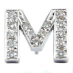 メンズ ピンブローチ ラペルピン ダイヤモンド イニシャル プラチナ M タイタック タイピン タックピン ダイヤ