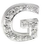 メンズ ダイヤモンド プラチナピンブローチ ラペルピン イニシャルブローチ G ダイヤ0.20ct ブローチ タイタック タイピン タックピン ダイヤ シンプル 人気