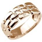 エンゲージリング ダイヤモンド 婚約指輪 ピンクゴールドK18 18金 ダイヤモンドリング ダイヤ ストレート