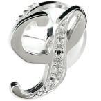 メンズ プラチナピンブローチ ダイヤモンド ラペルピン イニシャルブローチ S 筆記体 タイタック タイピン タックピン ダイヤ シンプル 人気